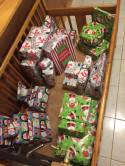 so many gifts from our kids' sponsors